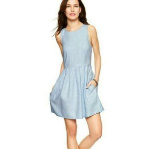 Gap fit & flare linen dress Sz4